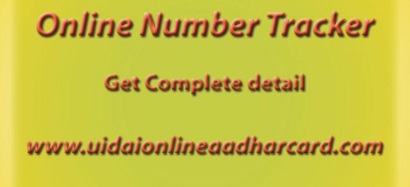 Online Number Tracker